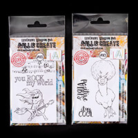 AALL & Create 2 x Stamp Sets - Positive Vibes and Rocking Solo - -677741