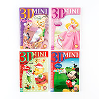 Set of 4 Disney Mini Decoupage Books - Disney, Fairies, Christmas-678962