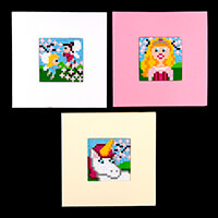 Pixelhobby UK Card Kit - 3 x Baseplates, 3 x Cards & Envelopes & -679668