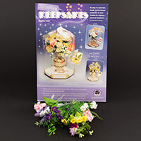 Scary Mary 3 Small Vases with Handles & Flowers Keepsake Kit-680812
