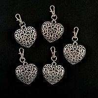 Impressions Crafts 5 x Heart Key Ring-682124