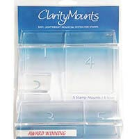 Set of 5 Claritystamp Assorted Stamp Mounts-686000