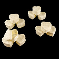 Luv Crafts Set of 12 Heart-Shaped Favour Baskets - Cream-688690