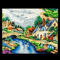 Pixelhobby Village Brook - 9 x Baseplates, 157 Pixelsquare Sheets-689521