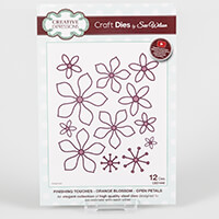 Dies by Sue Wilson Finishing Touches Orange Blossom - Open Petals-689558