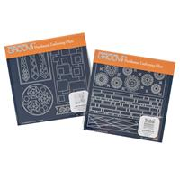 Groovi A5 Square Plates Duet - Tina's Funky Panels-690711