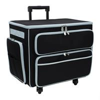 Sewing Online Deluxe 4 Wheel Trolley Bag with Green Trim-690758