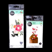 Sizzix® Thinlits™ 2 x Die Sets - With Love Envelope & Pretty Pose-692399