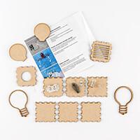 Samantha K Electro Set - Electronic Kit, Battery Holder, Switch, -692899