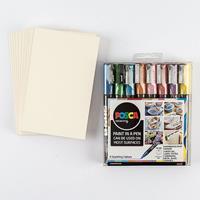 Posca 8 x PC-3M Sparkle Set with Free 10 x Postcard Mounts worth -693091