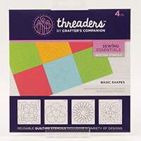 Threaders Quilting Stencils - Shapes-693869