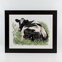 Thea Gouverneur 'Cow Lying Down' Cross Stitch Kit-694554