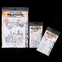 AALL & Create A4 & 2 x A6 Stamp Sets - Red Baron Bluprint & Lunar-694829