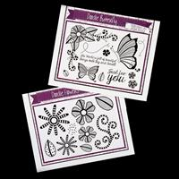 Creative Expressions - 2 x Stamp Plates - Doodle Flowers & Butter-697421