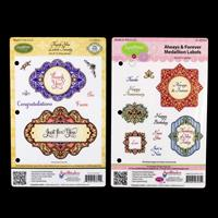 JustRite 2 x Cling Stamp Sets - Always & Forever Medallion Labels-698844