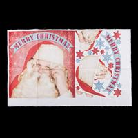 Dawn Bibby Santa Claus Applique Panel -  75cm x 45cm 100% Cotton-699287