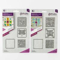 Gemini Create a Card Dies - Dragonfly and Rose Patchwork - 12 Die-699360