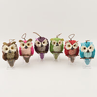 Craft Buddy Pick-n-Mix Coloured Wicker Owls - Set of 4-699689