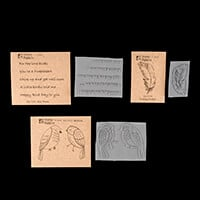 Stamp Addicts 3 x Rubber Stamps - Birdeeze, Floating Feather & Bi-700795