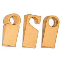 MDF Door Hangers - 3 Assorted Designs - 18 Pieces Total-702216
