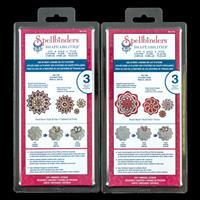 Spellbinders Shapeabilities 2 x Die Sets - Floral Burst & Round A-704494