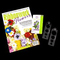Gina-B Silkworks Ribbonwork Flowers Project Book & Flower Comb Pa-706641