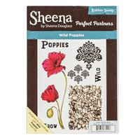 Sheena Perfect Partners A5 Stamp Set - Wild Poppies - 7 Stamp Ele-707868
