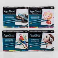 Spectrum Aquablend Pencils x 96 - Essentials, Primaries, Florals -710757