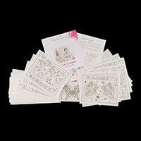 Pink Ink Designs Colour, Cut & Create Christmas Patterns - Makes -711552
