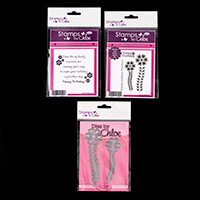 Stamps by Chloe Flower Stem Stamp and Die Collection - 2 Dies and-712108