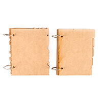 Bee Crafty 2 x MDF Journals - Tab Book & Ripped Notebook-712684
