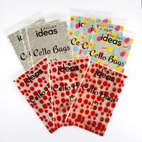 Set of 108 Cellophane Bags With Ties - Stars, Eggs & Spots - 17.5-714366