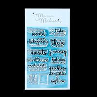 Mama Makes Hello Adventure A6 Clear Stamp Set - 13 Stamps-714585