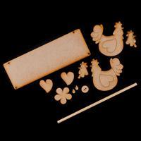 Karacter Krafts Whimsical Tea-Towel Hanger - Hanging Board, Dowel-714662