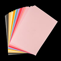 Sizzix® Accessory - 80 Sheets of Cardstock 216gsm - 20 Colours-714897