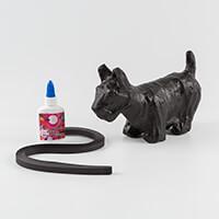 Crazy Quilling® Fringed Scotty/Westie Dog Kit - 15x22cm-715491