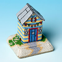 Nutmeg Minature Building 'Seaside Village' Cross Stitch Kit - Bea-716603