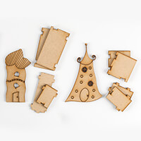 Polly Allsorts MDF Whimsical House - Small-716725