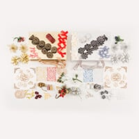 Dawn Bibby Gold & Silver Christmas Embellishment Kits - 42 Pieces-717225