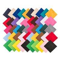 Pack of 50 Felt Squares - Assorted Colours - 22 x 22cm-717891