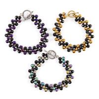 Impressions Crafts Beaded Bracelet with Electroplated Beads-718938