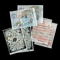 Imagination Crafts 6 x A4 Rice Papers - Timeless Collection-719748