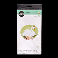 Sizzix® Thinlits™ Set of 4 Dies - Royal Swan by Debi Potter-720006