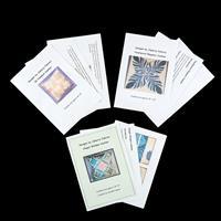 Juberry Fabrics Set of 3 Cushion Patterns (3D Pinwheel, Feathered-720439