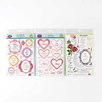JustRite® 3 x Clear Stamp Sets - For All You Do, Sweet Hearts & W-721218