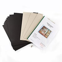 Oakwood Fold Over Album Kit - Inc A4 Chipboard, Cardstock and 20 -722709