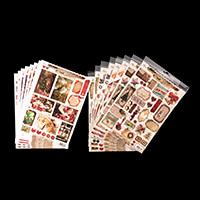 Luv Crafts 16 Sheets of Festive Toppers - A4-723371