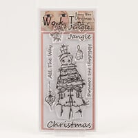 Which Craft? Wonky Tonk Bonny Wee Christmas DL Stamp Set - Jingle-723871