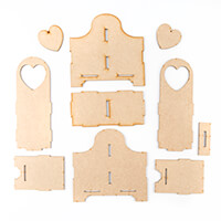 Candy Box Crafts MDF Twin Bottle Holder-724412