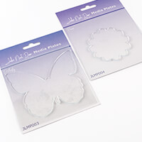 John Next Door Set of 2 Media Plates - Butterfly & Flower-726092